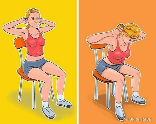 """Bài tập giảm cân """"siêu dễ"""" tại văn phòng chỉ với... một chiếc ghế - Ảnh 2"""