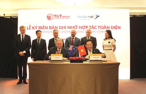 Tập đoàn T&T Group ký kết biên bản ghi nhớ hợp tác toàn diện với hiệp hội doanh nghiệp HunterNet (Australia) - Ảnh 1