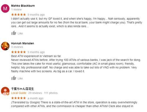 """Ngân hàng tự động Việt """"quyến rũ"""" khách ngoại trong chương trình Google Local Guides - Ảnh 2"""