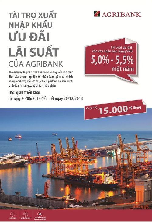 Agribank dành 15.000 tỷ đồng cho chương trình tài trợ xuất nhập khẩu ưu đãi  lãi suất đến khách hàng - Ảnh 1