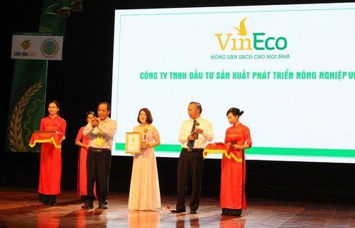 VinEco đạt danh hiệu Thương hiệu Vàng Nông nghiệp Việt Nam - Ảnh 1