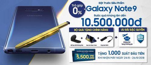 1.700 Voucher nghỉ dưỡng 5 sao tặng khách đặt mua Samsung Galaxy Note9 - Ảnh 1