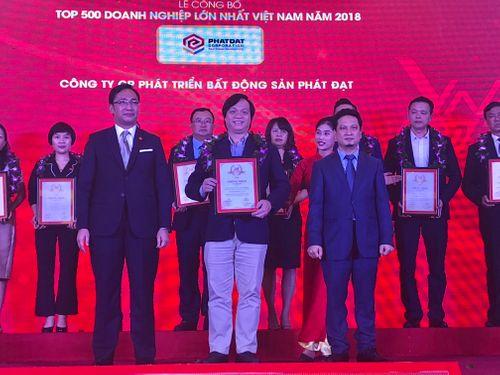 Công ty CP Phát triển Bất động sản Phát Đạt (Phát Đạt) được vinh danh tại Top 500 doanh nghiệp lớn nhất Việt Nam năm 2018 - Ảnh 1