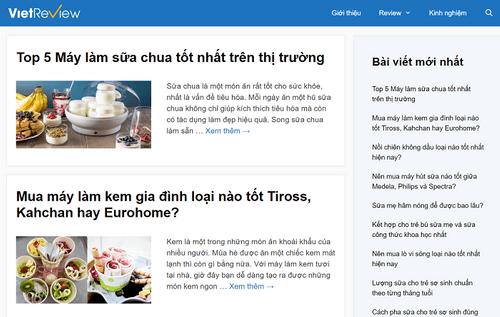 VietReview.vn - Website đánh giá sản phẩm hot nhất hiện nay - Ảnh 1
