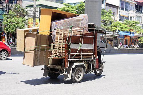 Xe ba gác, tự chế tung hoành trên mọi nẻo đường Hà Nội - Ảnh 4