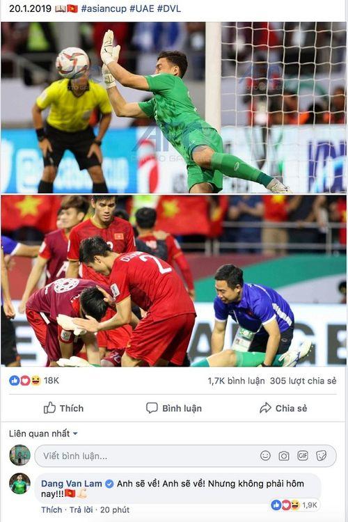 """Trào lưu mới của cầu thủ Việt Nam sau khi lọt tứ kết Asian Cup 2019: """"Anh sẽ về nhưng không phải hôm nay""""  - Ảnh 2"""
