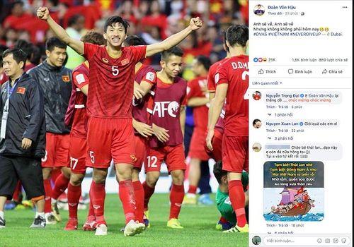 """Trào lưu mới của cầu thủ Việt Nam sau khi lọt tứ kết Asian Cup 2019: """"Anh sẽ về nhưng không phải hôm nay""""  - Ảnh 4"""
