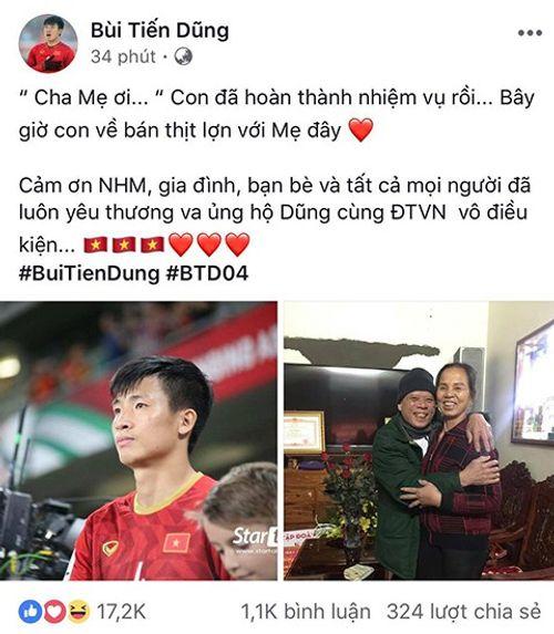 Sau trận thua Asian Cup 2019, Bùi Tiến Dũng nói điều ngộ nghĩnh trên trang cá nhân - Ảnh 1