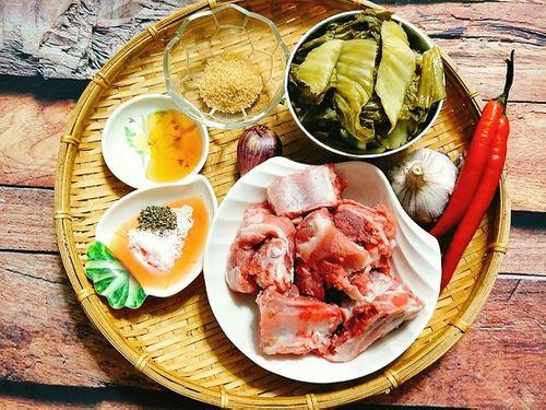 Món ngon mỗi ngày: Sườn kho dưa đậm đà cho bữa tối ngày lạnh - Ảnh 1