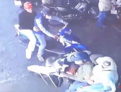 Truy tìm người đàn ông đi SH đấm vỡ xương mũi nữ nhân viên cây xăng - Ảnh 1