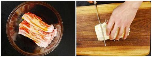 Món ngon mỗi ngày: Ba chỉ cuộn nấm kim châm sốt dầu hào thơm nức mũi - Ảnh 2