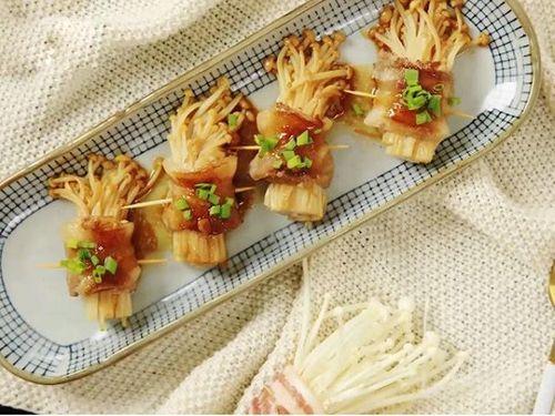 Món ngon mỗi ngày: Ba chỉ cuộn nấm kim châm sốt dầu hào thơm nức mũi - Ảnh 4