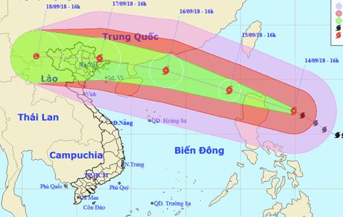 Các tỉnh lên kế hoạch cấm biển trước khi siêu bão Mangkhut đổ bộ vào Biển Đông - Ảnh 1