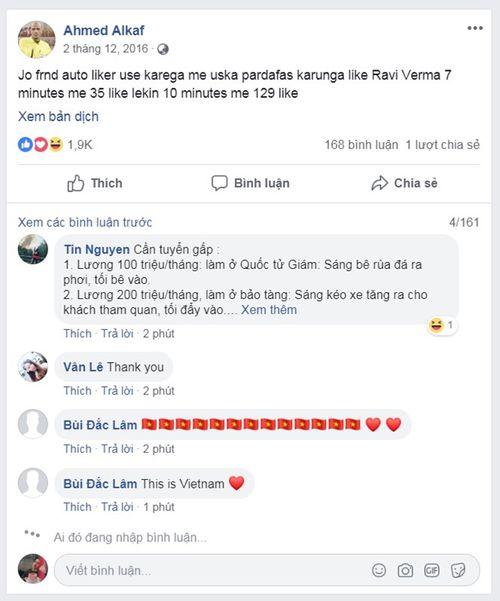 Thổi phạt công minh, trọng tài Ahmed Al-Kaf được cộng đồng mạng Việt Nam làm điều lạ trên Facebook - Ảnh 2