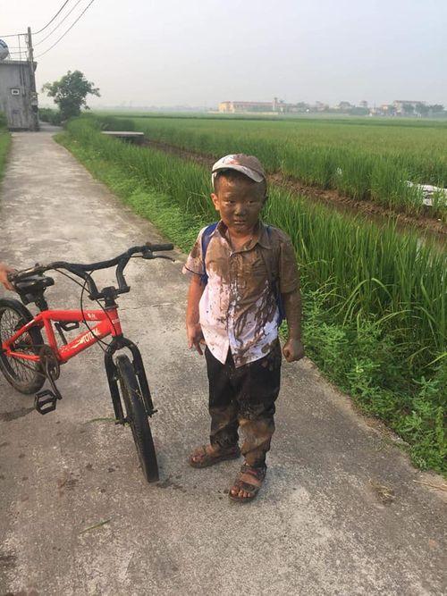 """Mải """"đuổi hoa bắt bướm"""", cậu bé rơi xuống ruộng và biểu cảm sau đó khiến dân mạng phì cười - Ảnh 2"""