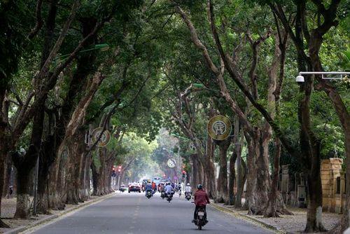 Nhiều tuyến phố Hà Nội vắng hoe, yên ả trong ngày giỗ Tổ Hùng Vương - Ảnh 3