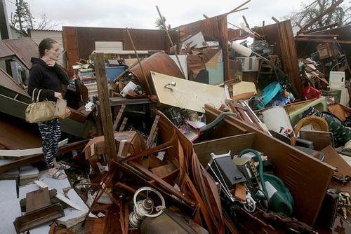 """Chùm ảnh: Cơn bão """"quái vật"""" lớn nhất thế kỷ tàn phá miền nam nước Mỹ - Ảnh 10"""