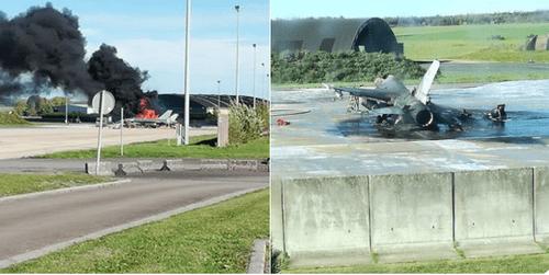 Tiêm kích triệu đô F-16 nổ tung, cháy rụi tại căn cứ không quân Bỉ - Ảnh 1