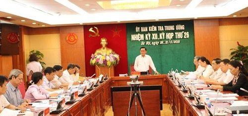 Thông cáo báo chí kỳ họp 26 của Ủy ban Kiểm tra Trung ương - Ảnh 1