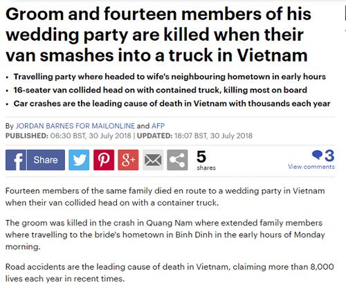 Nhiều báo nước ngoài đưa tin về tai nạn thảm khốc ở Quảng Nam khiến 13 người thiệt mạng - Ảnh 2