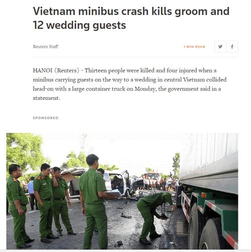 Nhiều báo nước ngoài đưa tin về tai nạn thảm khốc ở Quảng Nam khiến 13 người thiệt mạng - Ảnh 5