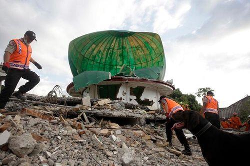 Động đất tại Indonesia: Cận cảnh siêu thị đổ sập trong chớp mắt - Ảnh 6