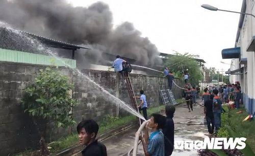 Hiện trường tan hoang vụ hỏa hoạn thiêu rụi xưởng gỗ 5.000m2 - Ảnh 9