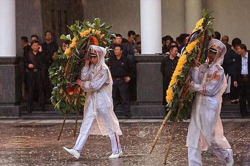 Người dân Hà Nội và các tỉnh đội mưa đến viếng Chủ tịch nước Trần Đại Quang - Ảnh 6