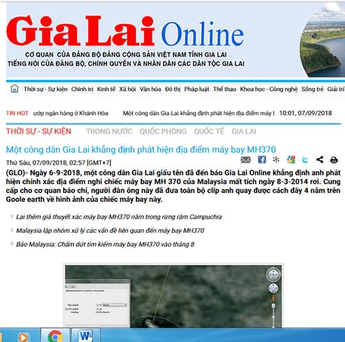 Vụ người dân Gia Lai phát hiện vị trí máy bay MH370: UBND chỉ đạo làm rõ thông tin - Ảnh 2