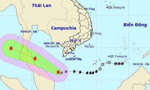 Tin mới nhất bão số 1: Bão Pabuk tăng tốc khi cách mũi Cà Mau 250 km - Ảnh 2