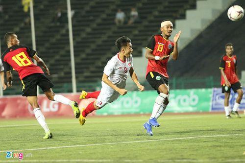 U22 Việt Nam đè bẹp Timor Leste với tỷ số 4-0, giành vé sớm vào bán kết - Ảnh 1