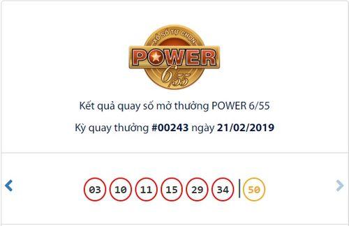 Kết quả xổ số Vietlott hôm nay 21/2/2019: Hé lộ bộ số may mắn trúng Jackpot 2