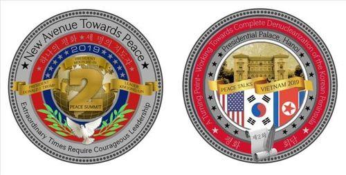Hé lộ mẫu đồng xu kỷ niệm Hội nghị thượng đỉnh Mỹ - Triều tại Hà Nội - Ảnh 1