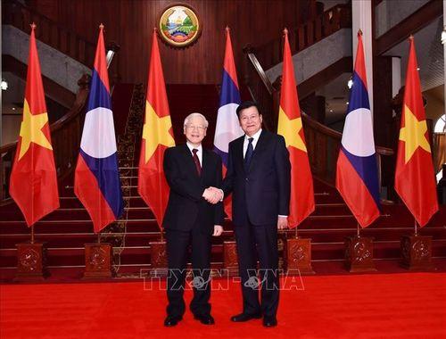 Tổng Bí thư, Chủ tịch nước Nguyễn Phú Trọng hội kiến Thủ tướng và Chủ tịch Quốc hội Lào - Ảnh 1