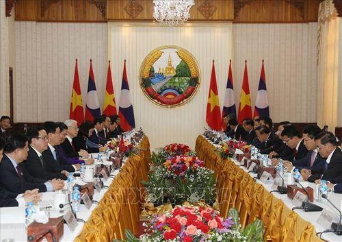 Tổng Bí thư, Chủ tịch nước Nguyễn Phú Trọng hội kiến Thủ tướng và Chủ tịch Quốc hội Lào - Ảnh 2