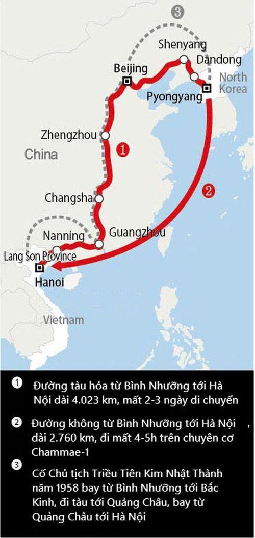 Tàu chở ông Kim Jong-un không dừng ở Bắc Kinh, tiếp tục di chuyển về Việt Nam - Ảnh 2