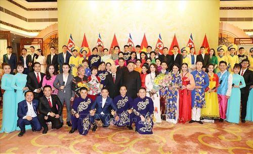 Chủ tịch Triều Tiên Kim Jong-un chơi thử nhạc cụ dân tộc Việt Nam - Ảnh 7