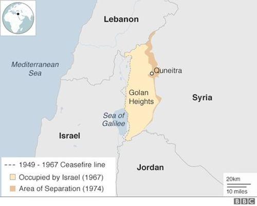 """Vẽ lại bản đồ, Mỹ quyết tâm """"biến"""" cao nguyên Golan thành lãnh thổ của Israel? - Ảnh 1"""