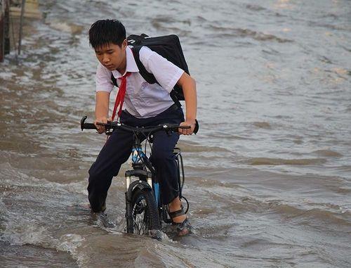 """Cận cảnh Cần Thơ mùa nước nổi, người và xe di chuyển trên """"sông"""" - Ảnh 3"""
