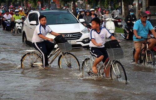 """Cận cảnh Cần Thơ mùa nước nổi, người và xe di chuyển trên """"sông"""" - Ảnh 4"""