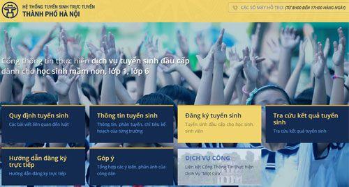 Từ 26/5, Hà Nội triển khai thử nghiệm đăng ký tuyển sinh trực tuyến vào lớp 6 - Ảnh 1