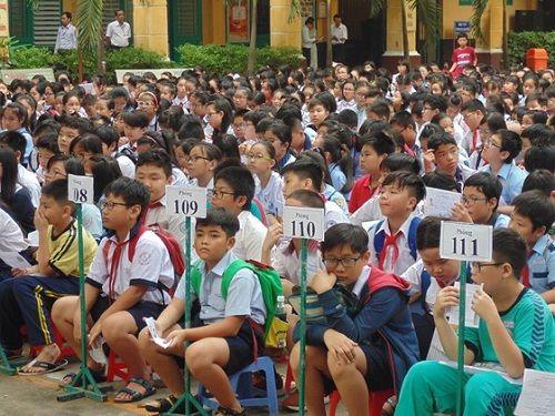 Hôm nay (14/6), hơn 4.000 thí sinh căng thẳng tranh suất vào lớp 6 trường Trần Đại Nghĩa - Ảnh 1