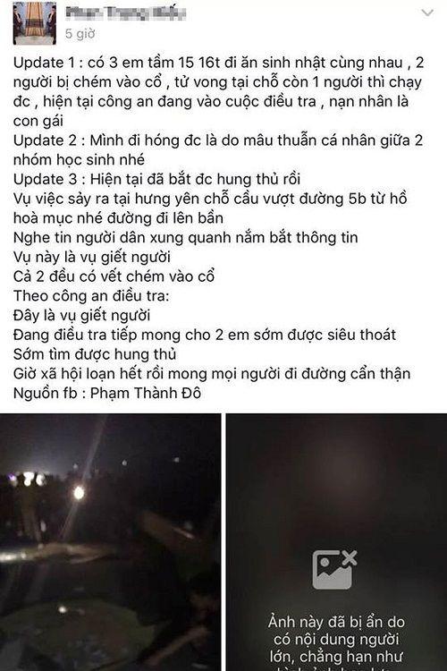 Thực hư thông tin hai nữ sinh bị sát hại khi đi sinh nhật ở Hưng Yên - Ảnh 2