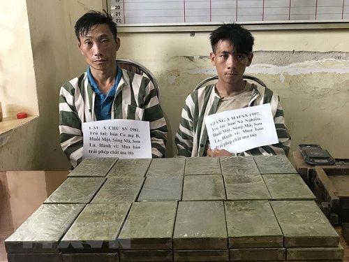 Sơn La: Bắt giữ 2 đối tượng vận chuyển 36 bánh heroin - Ảnh 1