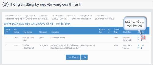 Hướng dẫn các bước điều chỉnh nguyện vọng đăng ký xét tuyển bằng hình thức trực tuyến - Ảnh 5