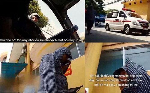 """Truy tìm nhóm côn đồ chặn xe cứu thương xin tiền """"bảo kê"""" ở Bệnh viện 103 - Ảnh 1"""