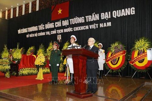 Lời điếu tại Lễ truy điệu Chủ tịch nước Trần Đại Quang - Ảnh 1