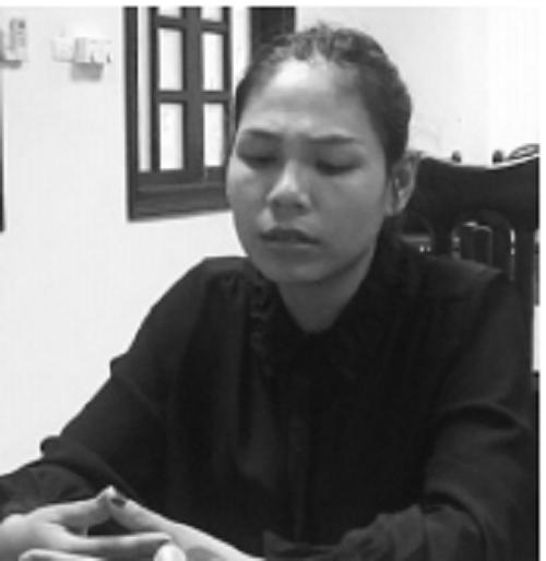 Nguyễn Thị Ngọc tại cơ quan điều tra.