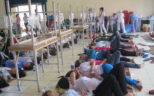 Yên Bái: 37 công nhân nhập viện vì ngộ độc khí nén từ máy là quần áo - Ảnh 1