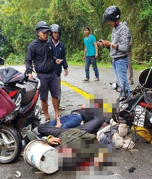 Thừa Thiên - Huế: Hai tài xế nguy kịch sau va chạm xe máy - Ảnh 1